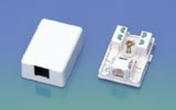 画像1: モジュラーローゼット NMJ-4(6極4心) 50個セット 送料無料